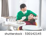portrait of scared patient... | Shutterstock . vector #530142145