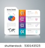 folder infographic design... | Shutterstock .eps vector #530143525