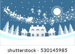 paper cut santa of merry... | Shutterstock .eps vector #530145985