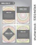 tribal mandala design set.... | Shutterstock .eps vector #530146564