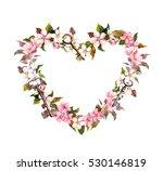 Floral Wreath   Heart Shape....
