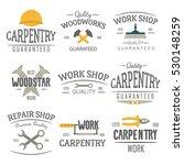 set of carpentry service ... | Shutterstock .eps vector #530148259