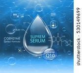 coenzyme q10. beauty treatment... | Shutterstock .eps vector #530149699