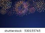 firework bursting sparkle... | Shutterstock . vector #530155765