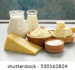 assorted dairy products  milk ... | Shutterstock . vector #530162824