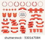 vector collection of decorative ... | Shutterstock .eps vector #530167084