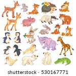 set of cute baby animals. cute ... | Shutterstock . vector #530167771
