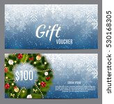 christmas and new year gift... | Shutterstock .eps vector #530168305
