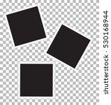three blank retro photo frames. | Shutterstock .eps vector #530168944