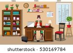 workday and workplace concept.... | Shutterstock .eps vector #530169784