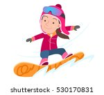 funny snowboarder. vector... | Shutterstock .eps vector #530170831