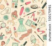 hand darwn  seamless pattern... | Shutterstock . vector #530170981