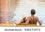 adult couple relaxing on the... | Shutterstock . vector #530171971