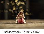 christmas manger scene with... | Shutterstock . vector #530175469