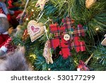 christmas toys and tree... | Shutterstock . vector #530177299