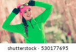 sports activity in winter time  ... | Shutterstock . vector #530177695