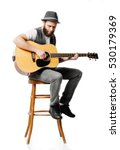 guitar player playing and... | Shutterstock . vector #530179369