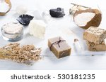 beauty and spa products on... | Shutterstock . vector #530181235