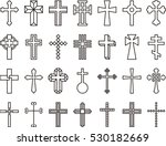 Crosses Outline Icons