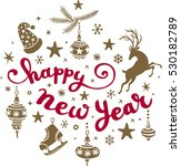 new years  calligraphy.... | Shutterstock .eps vector #530182789