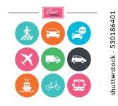 transport icons. car  bike  bus ... | Shutterstock .eps vector #530186401