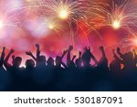 silhouette of party people... | Shutterstock . vector #530187091