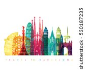 Barcelona Skyline Detailed...