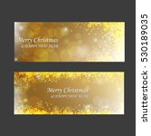 luxurious banners with golden... | Shutterstock .eps vector #530189035