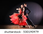 Dancers In Ballroom Isolated O...
