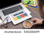seo concept on tablet screen | Shutterstock . vector #530200699