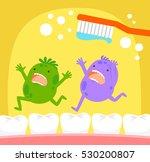 cartoon germs running away from ... | Shutterstock . vector #530200807