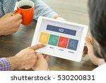 seo concept on tablet screen | Shutterstock . vector #530200831