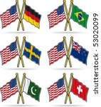 american friendship flags 3 | Shutterstock .eps vector #53020099