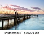Jetty Sunset  Wooden Pier On...