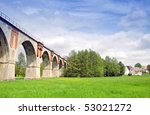 old railroad bridge with arches | Shutterstock . vector #53021272
