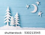 christmas background with white ... | Shutterstock . vector #530213545