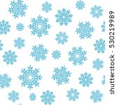holiday sketch blue snowflakes... | Shutterstock .eps vector #530219989