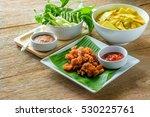 The Set Of Thai Food  Fried...
