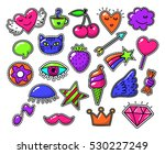 love fashion signs  comic... | Shutterstock .eps vector #530227249