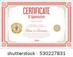 certificate retro design... | Shutterstock .eps vector #530227831