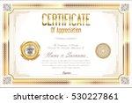 certificate retro design... | Shutterstock .eps vector #530227861