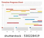 vector timeline progress graph  ... | Shutterstock .eps vector #530228419
