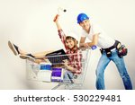 happy young couple went...   Shutterstock . vector #530229481