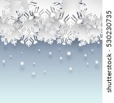 vector clouds of snowflakes on... | Shutterstock .eps vector #530230735