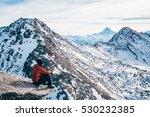 girl thinking winter mountain   Shutterstock . vector #530232385