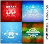 set of merry christmas and... | Shutterstock .eps vector #530233729