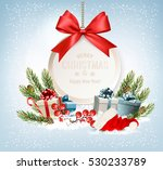 holiday christmas background... | Shutterstock .eps vector #530233789