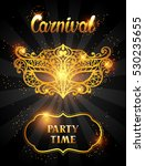 carnival invitation card with... | Shutterstock .eps vector #530235655