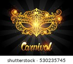 carnival invitation card with... | Shutterstock .eps vector #530235745