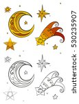 christmas stars and crescent...   Shutterstock .eps vector #530235907
